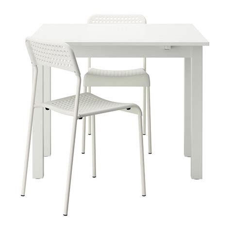 Bjursta Adde Table And 2 Chairs White 50 Cm Ikea Ikea White Dining Table And Chairs