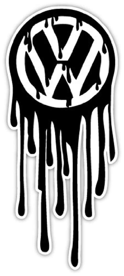 Sticker Vw German Look by Volkswagen Vw German Engineering Oil Drops Sticker Decal 3