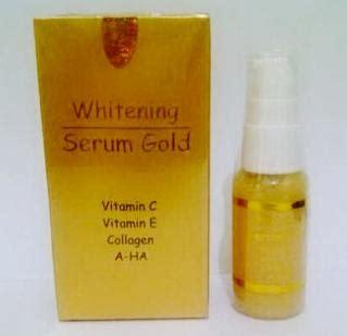 Whitening Serum Gold Pencerah Pemutih Penghilang Flek Mata Panda vitamin wajah paketkosmetik