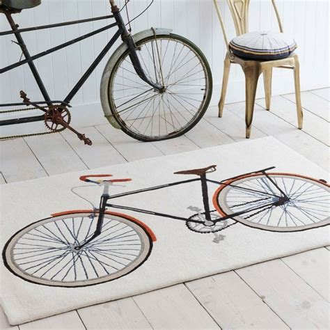 bike rug home accessories trend featuring bicycles pedals quickly ahead homegirl
