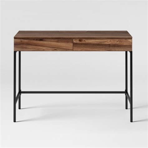 target desk darley writing desk walnut threshold target