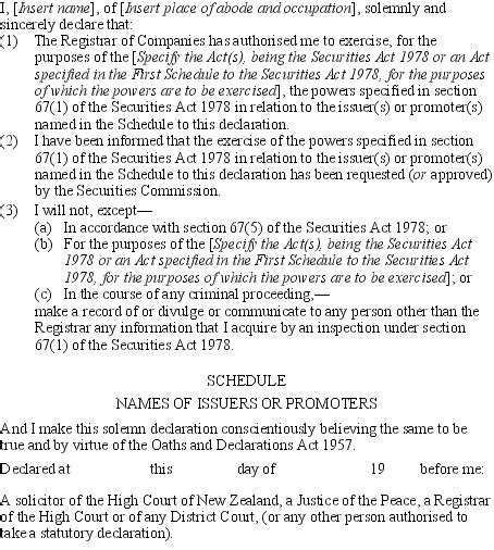 section 12 securities act securities regulations 1983 sr 1983 121 as at 10 april