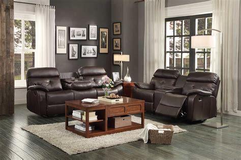homelegance reclining sofa reviews homelegance evana reclining sofa set dark brown bonded