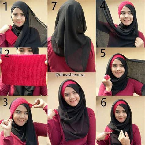 Jilbab Modern 2016 Tutorial Cara Memakai Jilbab Modern Style Trendy 2016