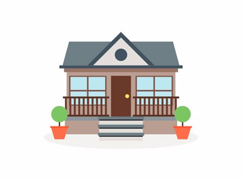 house animated dribbble animation
