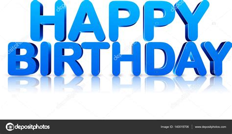 happy birthday 3d logo design blue happy birthday 3d card stock vector 169 maxborovkov