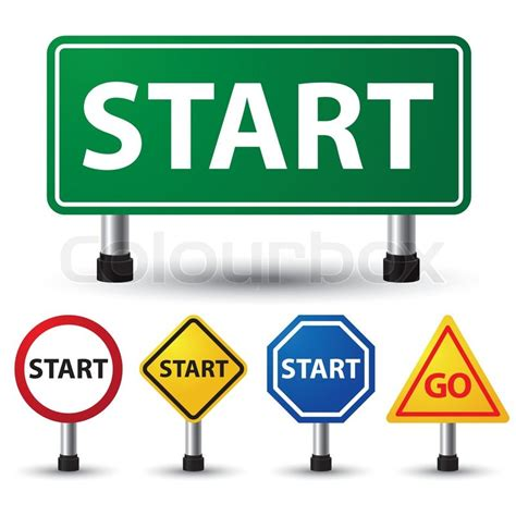 art startup start sign stock vector colourbox