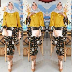 Setelan Baju Muslim Baju Atasan Rok Maxi Panjang Stelan Set St setelan baju kebaya brukat dan rok pendek modern model terbaru