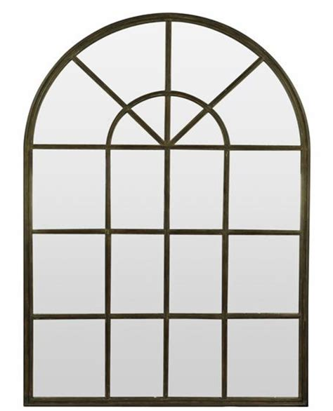 iron window iron panel window arch mirror in 2 sizes allissias attic