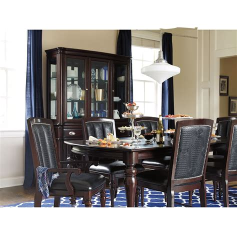 American Signature Dining Room Sets Esquire Table And 6 Chairs Cherry American Signature Furniture