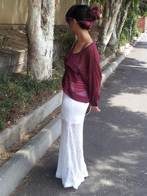 pretty diy lace sheer maxi mini skirt