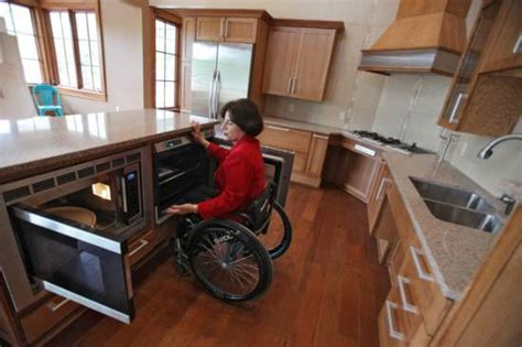 wheelchair accessible kitchen design wheelchair accessible universal design home from the ground up