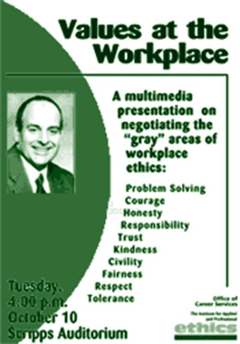 workplace ethics the institute for applied professional ethics