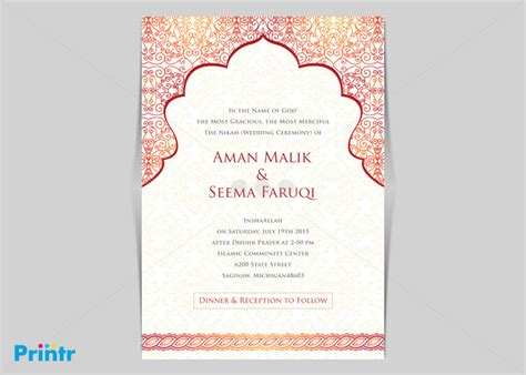 Wedding Invitation Card Sle Design by Arabic Wedding Invitation Templates 28 Images Wedding