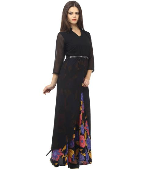 Maxi Rayon Black cottinfab black rayon maxi dress buy cottinfab black