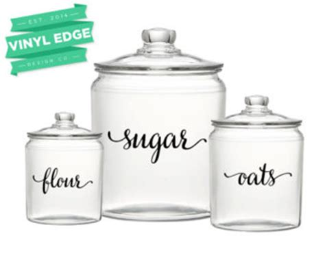 labels for kitchen canisters canister label etsy
