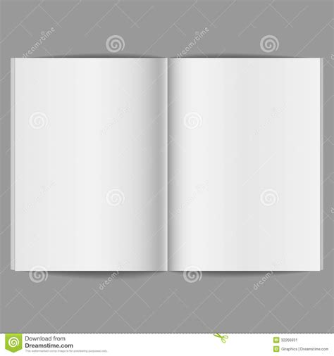 does eps format support transparency blank open magazine stock image image 32266931