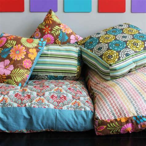 create   colorful jumbo floor pillows brit