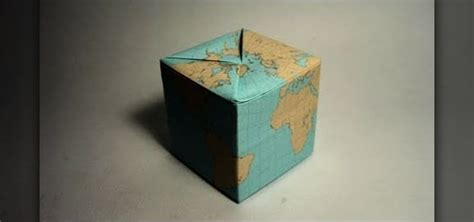 Origami Shaped Box - how to fold a simple origami globe shaped like a box