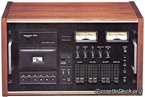 nakamichi 1000 cassette deck nakamichi 1000 3 cassette system cassettedeck org