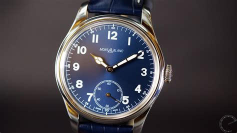 Mont Blanc Small montblanc 1858 manual small second montblanc review
