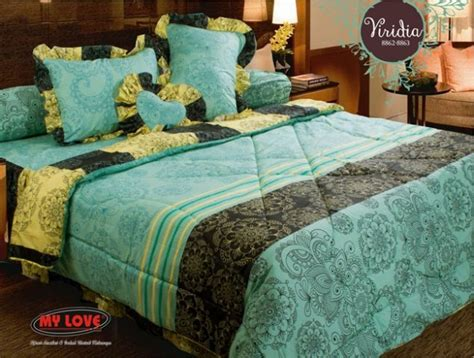 Bedcover Selimut Quilting Set 2 Sarung Bantal Size 230x250cm 30 bedcover hijabbio