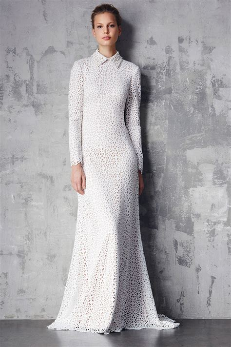 White Texture Collar Dress Size Sml favorite carpet ready looks wedding inspirasi