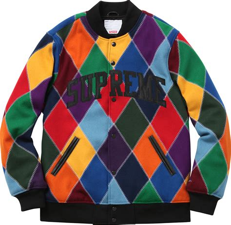 Home Stores supreme harlequin wool varsity jacket