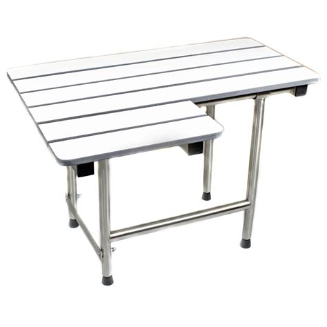 ada bench ada compliant folding shower transfer bench sh 400 2sdr