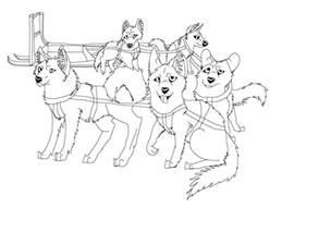 sled dog team lineart by aprilsilverwolf on deviantart