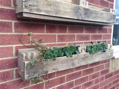 pallet window and wall hanging planter ideas 101 pallets