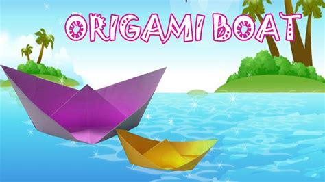 origami boat tutorial origami boat tutorial origami easy youtube