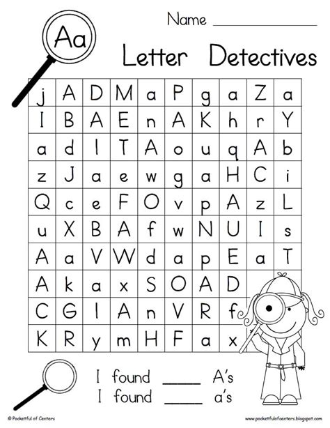 Printable Alphabet Letter Search | 70 best images about letter practice sheets on pinterest
