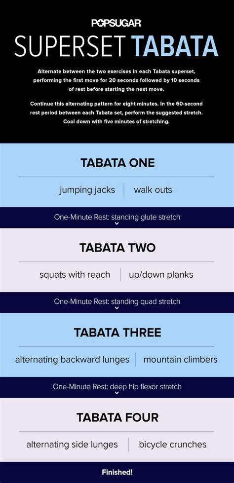 tabata workout 40 minutes popsugar fitness