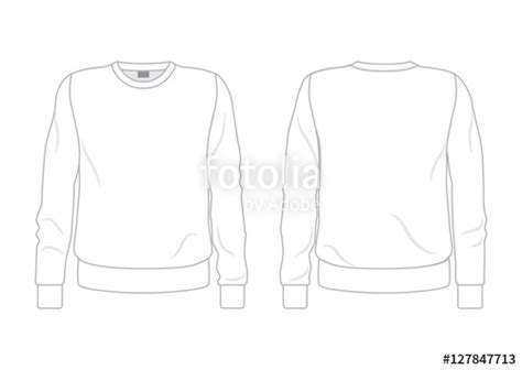 crewneck sweatshirt template front and back www imgkid