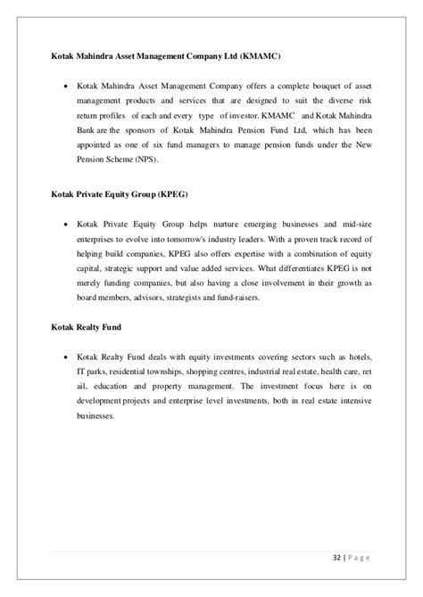 Offer Letter Of Kotak Mahindra Bank a study on e banking facility of kotak mahindra bank