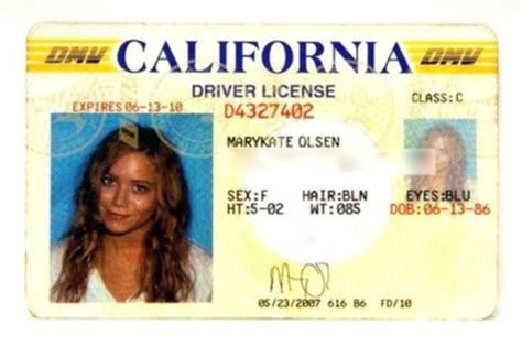 12 california drivers license template psd images
