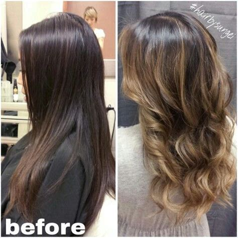 Different Types Of Hair Highlights by Balayage Highlights Second Session Caramel Colormelt Asian