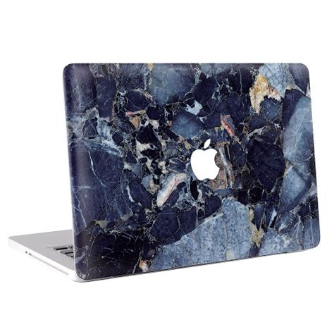 Macbook Air Marmor Aufkleber by Blau Marmor Macbook Skin Aufkleber