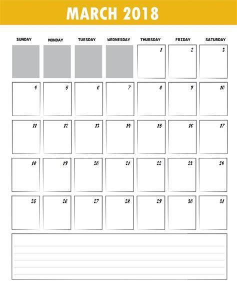 Editable Printable Calendar Editable March 2018 Calendar Max Calendars