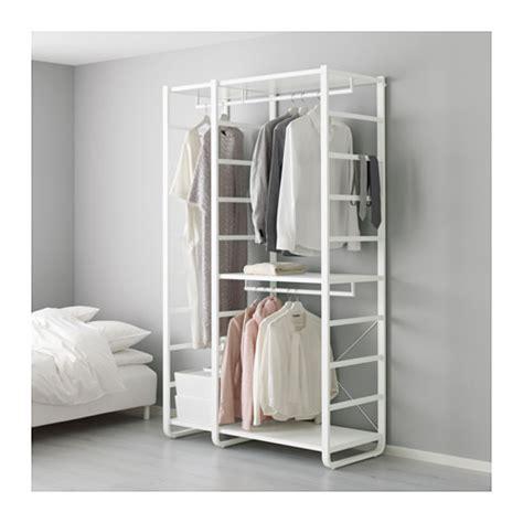 open clothes storage elvarli 2 section shelving unit ikea