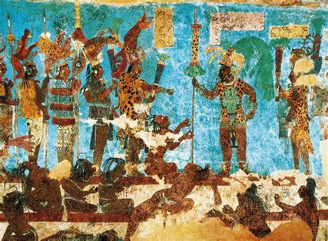 imagenes de murales mayas descubren las fuentes de la pintura quot azul maya quot