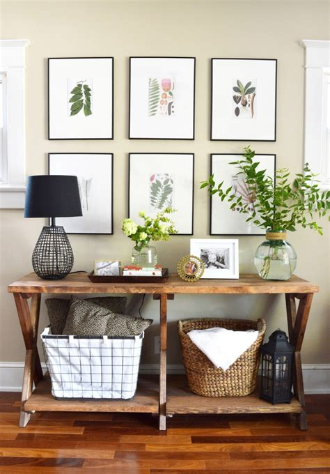 tips  styling  entryway table