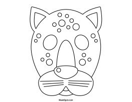 printable leopard mask