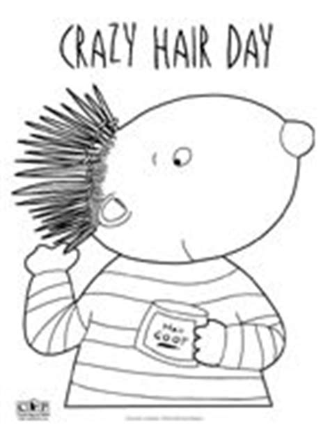 coloring pages of crazy hair crazy hair day fun on pinterest crazy hair days crazy