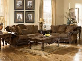 Cheap Livingroom Set by Ashley Furniture Fresco 63100 Durablend Antique Living