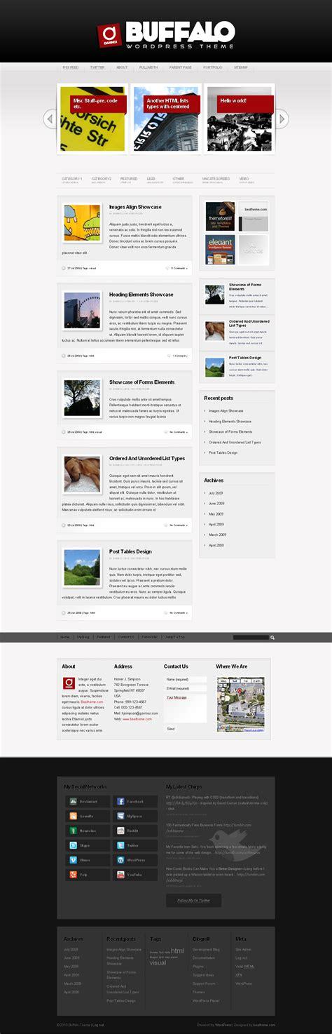 theme wordpress unique buffalo unique wordpress theme 5 in 1 by dannci