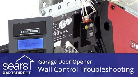 garage door opener doesnt work wall control