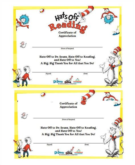 dr certificate template dr seuss reading certificate template feedscast
