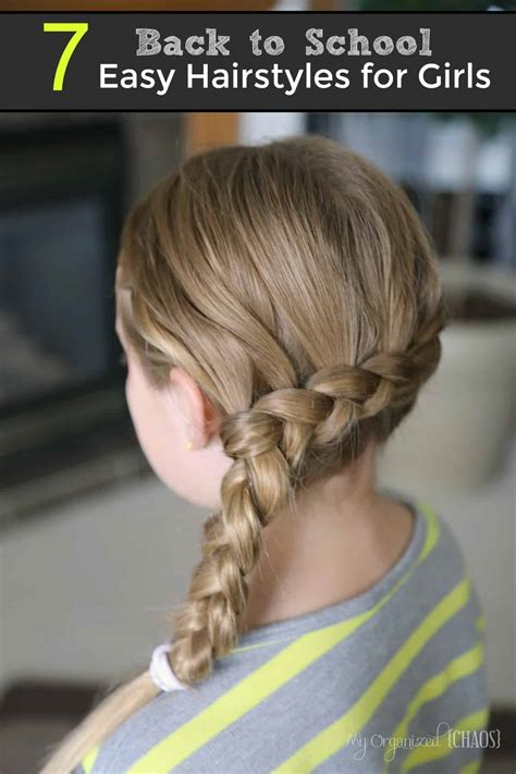 Hairstyles For Hair Easy For School by 7 Back To School Easy Hairstyles For